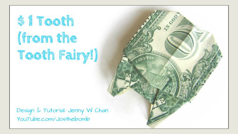 1 Tooth From The Tooth Fairy Money Origami Origamitree