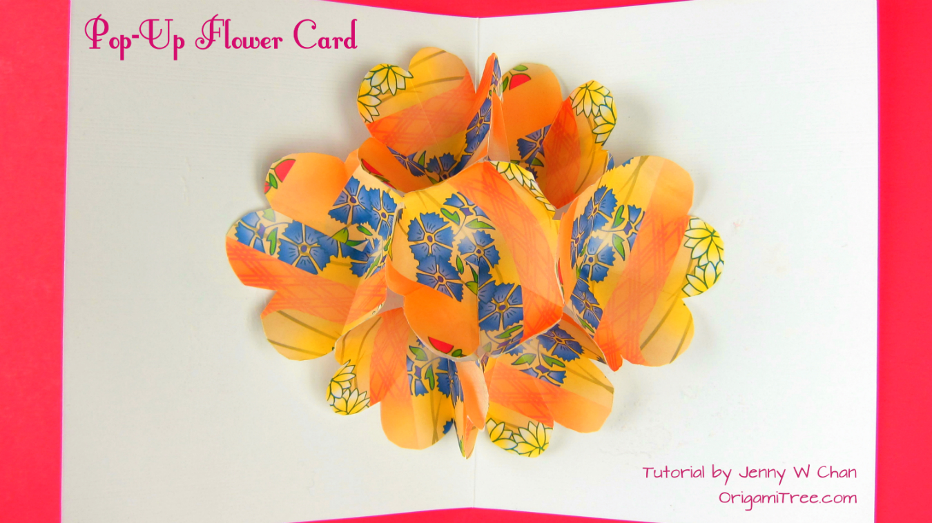 Flower Pop Up Card Origamitree