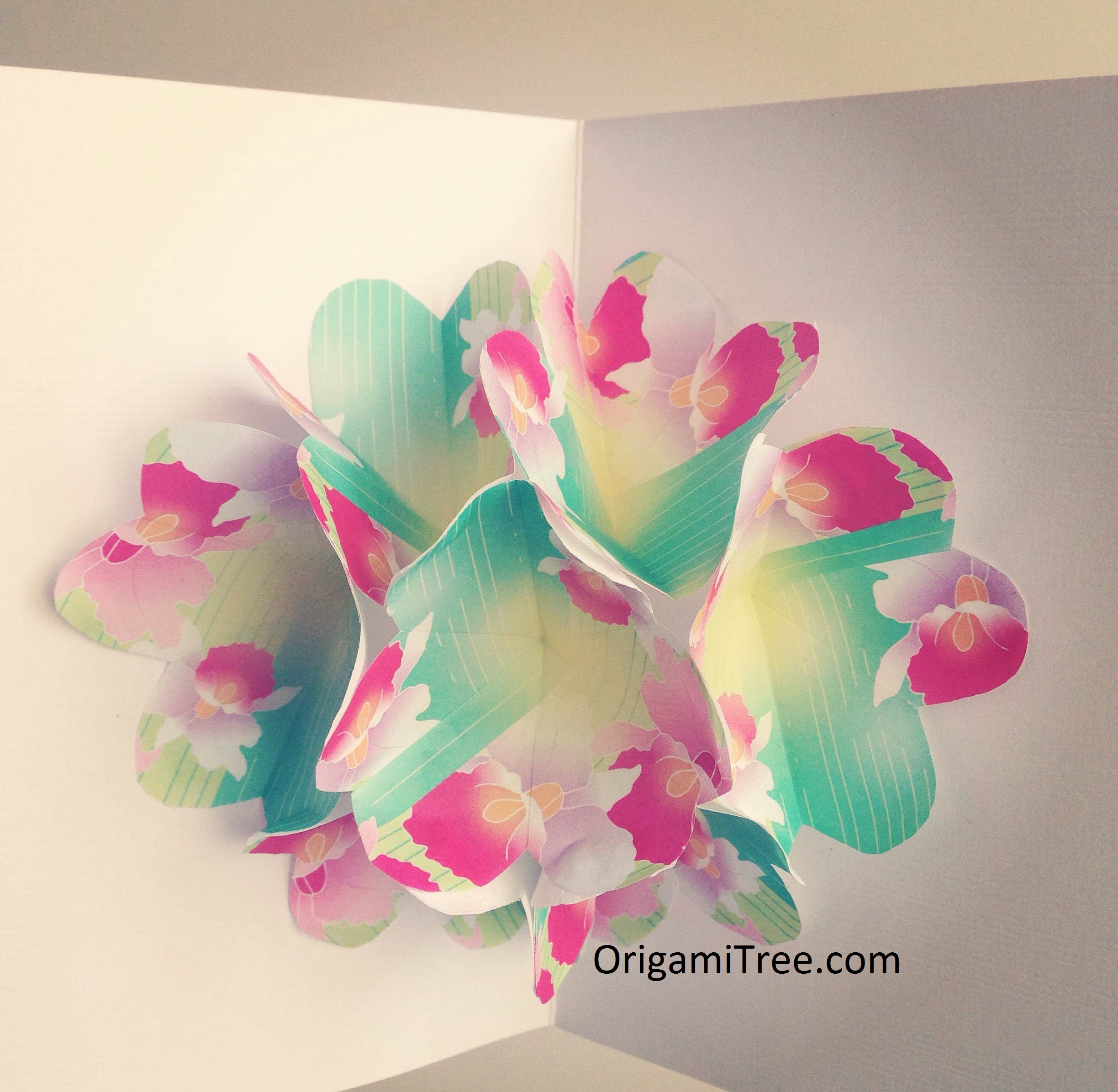 Flower Pop Up Card Origami Origamitree Origamitree