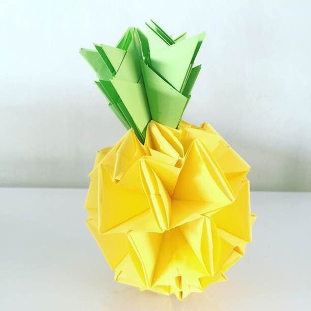 Origami Pineapple Craftlovelies Instagram Tutorial Httpwp