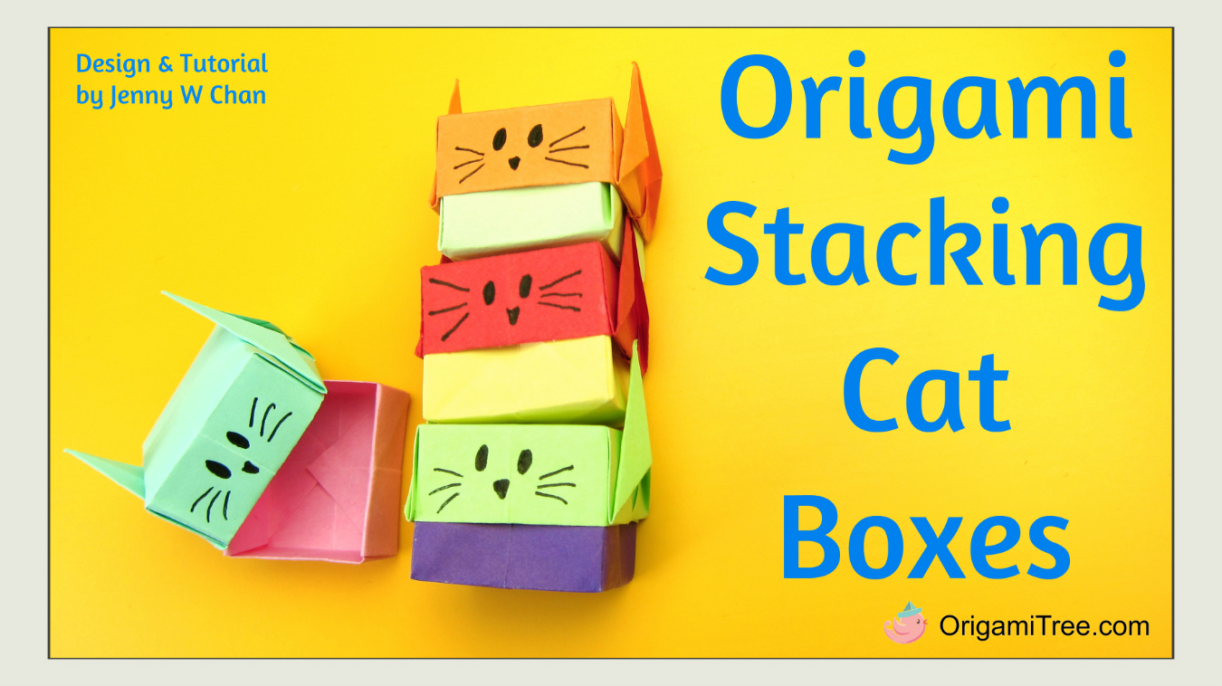 Origami Stacking Cat Boxes Gift Swantutorial Blue39s Chinese 3d Modular Swan Diagram