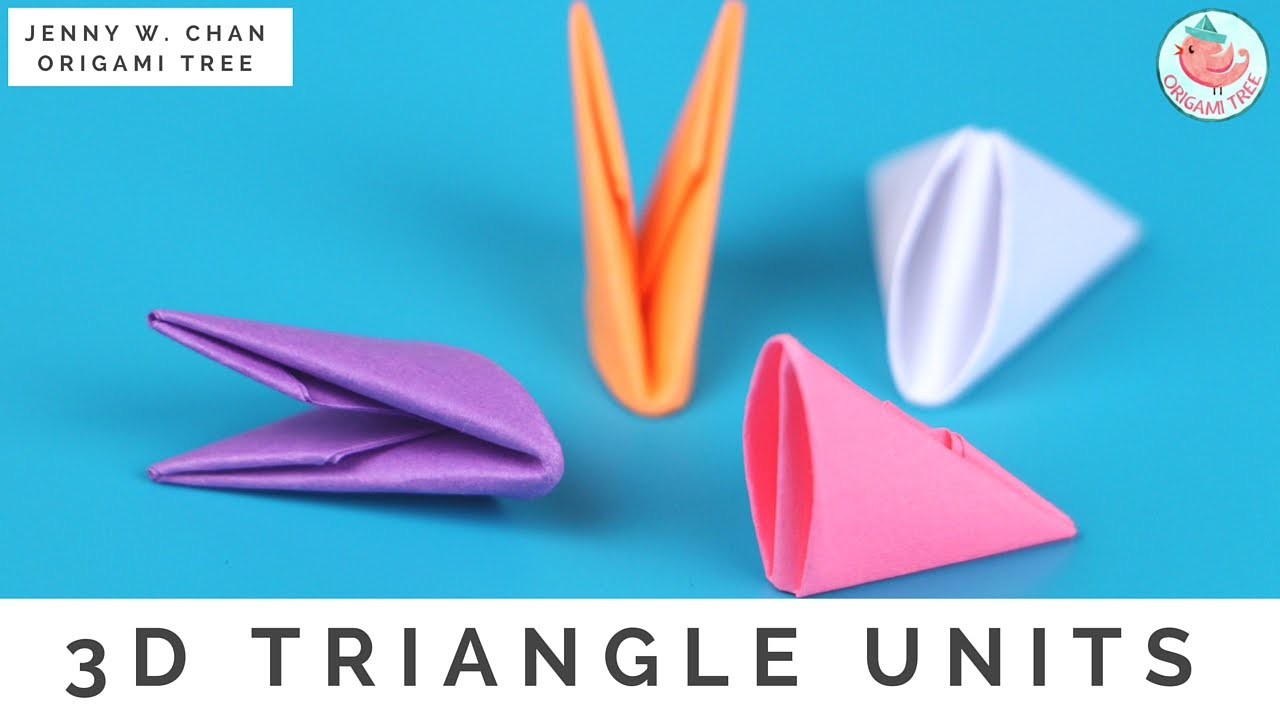 3d origami triangle units for modular origami. Black Bedroom Furniture Sets. Home Design Ideas