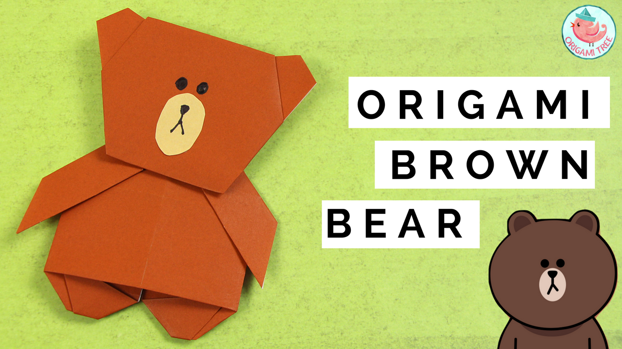 Origami Brown The Bear Line App To Fold Mouse From Paper Diagram Of Themouse